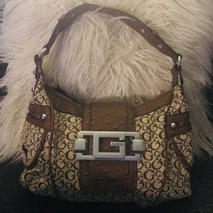 Guess brown and beige shoulder bag